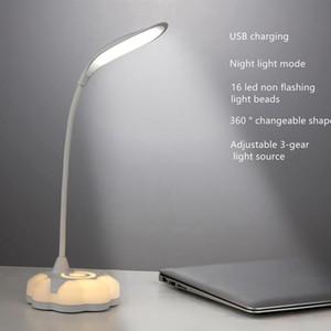USB Charging Eye Protection Desk Lamp Bedroom Bedside LED Night Light Large Area Light Student Dormitory Work Study Table Lamp