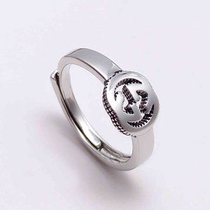 New jewelry double interlocking geometric ring Japanese Korean simple trend personalized men's and women's rings