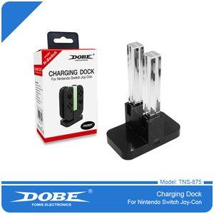 Универсальная Светодиодная зарядка док-станции Зарядное устройство для зарядного устройства для Nintend Switch NS Контроллеры 4 в 1 Стенд