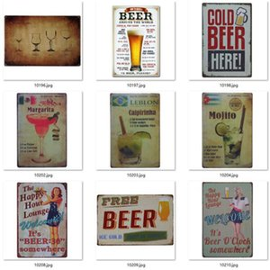 Metal Beer Poster 4000+ style Corona Extra Tin Signs Retro Wall Stickers Decoration Art Plaque Vintage Home Decor Bar Pub Cafe WY1222