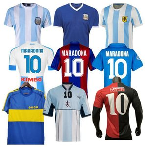 1978 1986 Argentinien Maradona Fussball Jersey Retro 82 83 93 94 Newells Old Boys 1981 Boca Juniors 87 88 Neapel Napoli Football Hemd Thailand