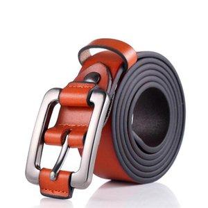 JXQBSYDK Cinturones de lujo para mujeres Moda Cinturones Simple Color Sólido Color de Cuero de Alta Calidad Hebilla Cintura