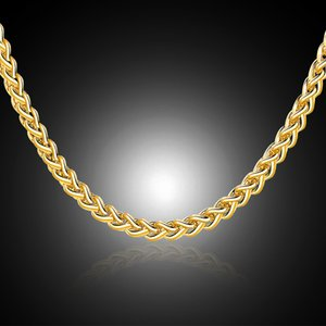 3.5mm Creative Chain Gold Necklace For Women Men Jewelry Necklaces & Pendants Charms Jewellery 16 18 20 22 24 Inch Wholesale M17