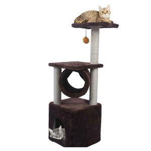 "Black Friday 36"" Cat Tree Bed Furniture Scratch Cat Tower Post C jllmso insyard"