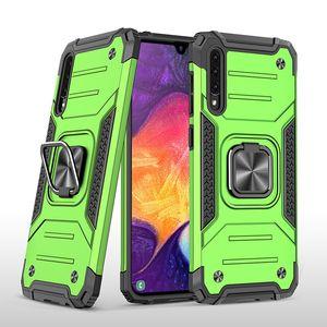 Shockproof Armor Magnetic Metal Case For Samsung Galaxy A51 A71 A31 A41 A21 A10 A20E A30 A50 A70 A10S Ring Cover