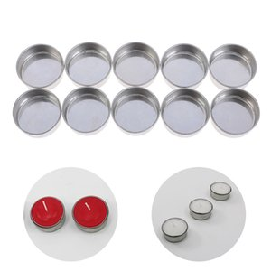 10Pcs Empty Tealight Candle Tins Molds Jars Cosmetic Sample Containers For DIY Candle Making Tool Y0224