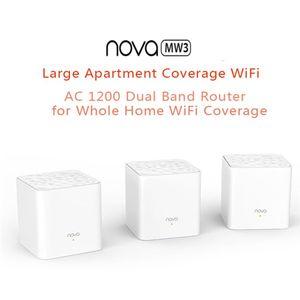 TENDA NOVA MW3 AC1200 1200 Mbps Wave IEEE802.3 IEEE802.3U MU-MIMO Home intero Wi-Fi Mesh Extender System Router wireless Dual-Band