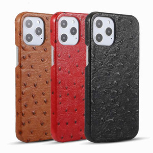 1pcs Luxury PU Leather IPHINE 12 case Cowhide ostrich pattern back shell Phone Cases For iPhone 11 Pro Max Xs 7 8 Plus Xr X SE Cover Case