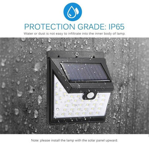 Black Waterproof LED Solar Power PIR Motion Sensor Wall Light 9W Outdoor Garden Street Lamps 364LM