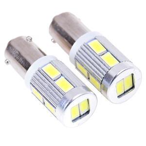2pcs DC 12v H6W BAX9s 10SMD Corner Indicator Light LED Parking Light Tail Light Bulb