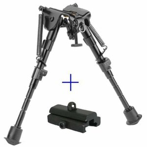 20pcs 6-9 Inches UTG Tactical Rifle OP Bipod Adjustable Spring Return with Adapter Mount Hunting Accessories