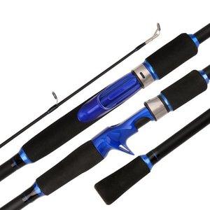 Fibra de carbono 1.6M1.8m2.1m2.4m2.7m girando haste de pesca m power rock pesca haste carpa alimentador surf spinning