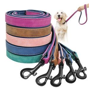 Cane guinzaglio cablaggio in pelle piombo pet cane cucciolo che cammina media running medio piccoli guinzagli cani corda corda di cintura grande forniture di addestramento per animali domestici