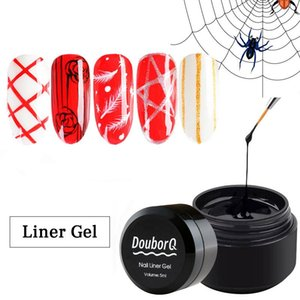 2021 Nuovo Gel di ragno Colore per unghie 6 colori Gold Sliver Phin String String Nail Nail UV Led Soak Off 3D Gel Paint Liner