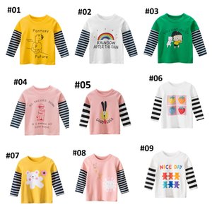 Kids T Shirts Boys Girls Children Tee Tops Long Sleeves Print Cartoon Toddler Baby Clothing Clothes Spring Autumn Winter For 2-7