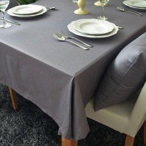 Сплошной цвет журнальный столик ткань пылезащитный свадьба вечеринка банкетка украшения настольный стол 100% хлопок прямоугольная скатерть