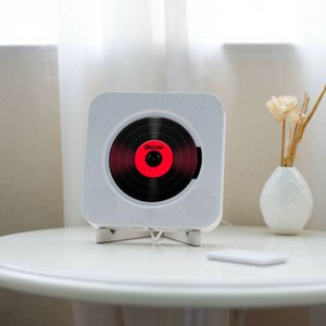 Wall Mounted CD Player Surround Sound FM Radio Bluetooth USB MP3 Disk Portable Music Player Remote Control Stereo Speaker Home