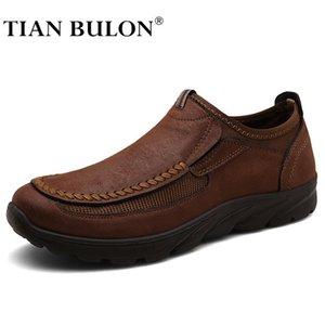 남성 캐주얼 신발 가죽 Zapatos 브랜드 망 Loafers Moccasins 남성 공식 운전 신발 플러스 크기 39-48 210316