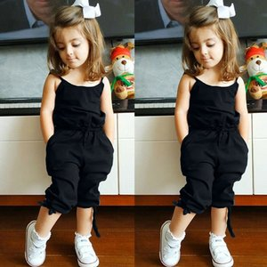 2021 New Cotton Kids Summer Toddler Girl Clothes Color Solid Girls Overalls Fashion Children Clothing 2-6 Years 3avf