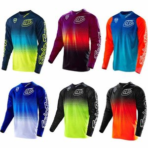 2021 Tldnew Motocross Jersey MTB Downhill Jeresy MX 사이클링 산악 자전거 Dh Maillot Ciclismo Hombre 빠른 건조 자전거 저지