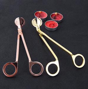 الفتيل 7inch الساقيات غير القابل للصدأ المتقلب الصلب dipper روز الذهب شمعة مقص القاطع أدوات الزخرفية جودة عالية
