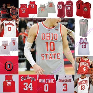 2020 New Ohio State Buckeyes Basketball Jersey NCAA College Kyle Young d.j. Karton Kaleb Wesson Alonzo Gaffney Muhammad CJ Walker Wesson