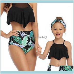 Childrens Equipment Sports & Outdoorschildrens Swimwear Girls Bikini Set Two-Piece Suits High Waist Children Swimsuit Summer Beach Swimming