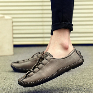 Men Casual Shoes Fashion Men Shoes Microfiber Leather Loafers Moccasins Slip On Mens Flats Male Breathable Driving E6TE#