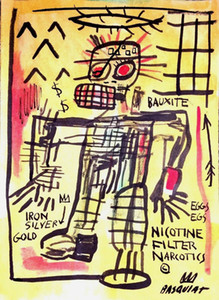 JEAN-MICHEL BASQUIAT NICOTINE FILTER Home Decoration Handpainted &HD Print Oil Painting On Canvas Wall Art Canvas Pictures 210217