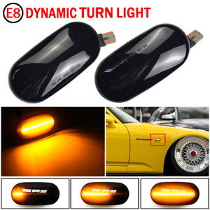 1 Pair Led Dynamic Side Marker Turn Signal Light Sequential Blinker For HONDA Prelude CRX S2000 Integra Fit Del Sol Acura Civic