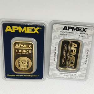 1OZ Argor 24K Gold Bar Rcm Ap 1 Troy Ounce emx plated bullion Business gifts Metal Badge Non magnetic MIX 3pcs