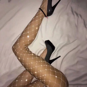 Fishnets Home Women Sexy Crystals Stocking Womens Net Fishnet Body Diamond Stockings Pattern Pantyhose Tights Stockings Rhinestone Sock