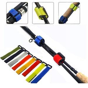 10 unids Herramientas de pesca Barras Correa Correa Tackle Tackle Elastic Wrap Band Pole Titular Accesorios Materiales de buceo Fi JllFxw