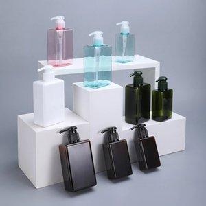 100 مل ملع قابلة لإعادة الملء زجاجات مضخة بلاستيكية فارغة غسول تخزين حاوية موزع ل ماكياج مستحضرات التجميل حمام دش جل شامبو