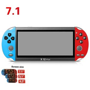 X7 X12 Plus TV Video Game Console Mini Portable Handheld Game Players With 8GB 18GB Classic Retro Games Dual Rocker Joystick for Kids Gift