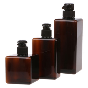 Free Shipping 250ML 280ML 650ML Amber Shampoo Bottle Lotion Container Large Pump Plastic Refillable Travel Bottle Body Milk Bottle