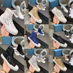 Top Quality Men Womenl Casual High and Low Canvas Shoe Leather Classic Sneakers Fashion Dress Shoes Outdoor Platform Trainers With Box