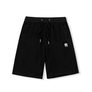 21SS STYLIST STYLIST MENS Casual Pantalon court Homme Shorts Pantalons Lettre imprimée Courte Respirant Simple Black and White Style Taille: M-2XL