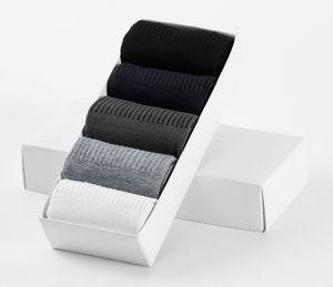 5 Çift Bambu Fiber erkek Çorap Bahar Sonbahar ve Kış Sıkıştırma Çorap Nefes Anti-Bakteriyel Deodorantı Elbise Erkekler