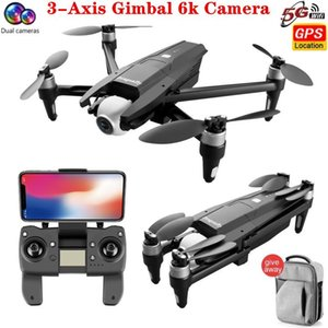 Drones S137 6K With GPS Double Camera FPV 3-Axis Gimbal 50X ZOOM 170° Dron Distance 2km RC Quadcopter Kids Toys Flynova Pro