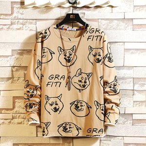 2021 Autumn Spring Fashion Fake Oversized Two Male Tshirt Parts Long Casual Sleeve the Neck T-shirt for Man Top t Wdbx