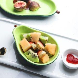 الأفوكادو لوحة السيراميك الأطفال الإفطار وعاء أدوات المائدة الحلوى لوحة وجبة خفيفة لوحة سلطة السلطانية صور الدعائم 38 S2