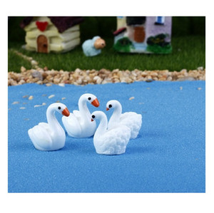 lovely mini toys cake toppers capsule toys swan microlandschaft