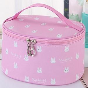 Women's Simple Large Capacity Oxford Cloth Storage Zipper Bag Cosmetic Bag Make Up Cosmetic Bags Big Capacity Box #G2 P0PD#
