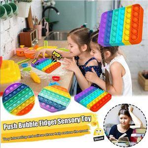 Push Pop Bubble Sensory Fidget Anxiety Toys Stress Relief Special Needs Silent Classroom Bubble Autism Kids Stress Ball