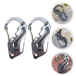 Cords, Slings And Webbing 2pcs Quick Hanging Buckles Multifunctional Camping Climbing Carabiners