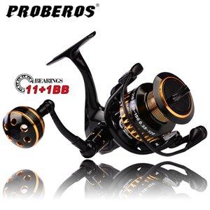Reel de pesca Pro Beros 11 + 1 BB Rodamientos de bolas Tipo Línea de aleación Rueda de la taza para la pesca de agua salada 5.0: 1 Reel giratorio PN3000