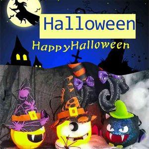 5PCS PACK Halloween Light pumpkin ghost lantern vampire bat light cute cartoon LED lamp toys ball garden home ornament layout party Kids Room decorations G83DDKQ