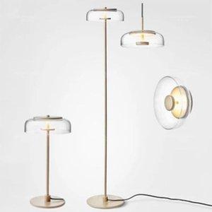 Floor Lamps Post Modern Glass Desk Lamp Living Room Bedroom Study Lighting Minimalist LED Light Source Standing