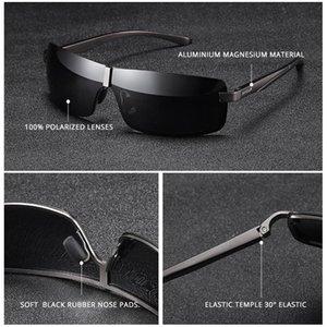 Cas d'extérieur UV400 Lentille en aluminium Protection Rectangle de lunettes de soleil miroir de lunettes de lunettes Mens pilote Polarized Raykiller avec pêche SQQMO OPLGO